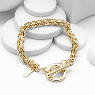 Twist Bracelet Chain Bracelet - (Bright Gold)