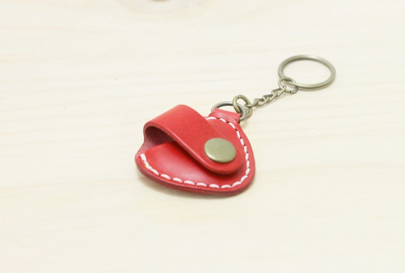 Valentine 's Day Gift Guitar Pick Inductive Buckle Hand Leather Leather Case Key Ring |