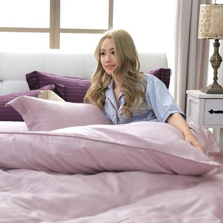 (Double) Natural Pure Color Fantasy Violet - Silver Fiber 60 Tencel Dual-use Bed Set Four Pieces