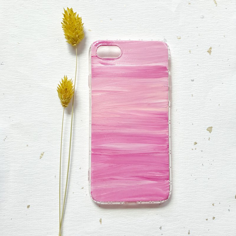 Mixed color hand-painted acrylic mobile phone shell anti-drop air shell