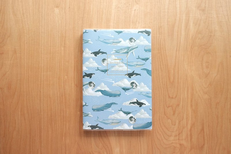 PLANNER A5 (Monthly&Weekly) : WHALE ON THE MOON