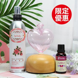 [Herbal Truth] WISH Wish Fragrance Set (Pink + Rose Hydrosol + Compound Essential Oil Randomx1)