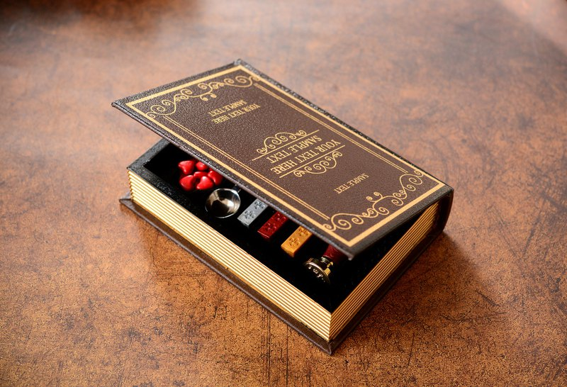 Custom-a book of confession lacquer set to give to the favorite person a customized sealing wax lacquer seal