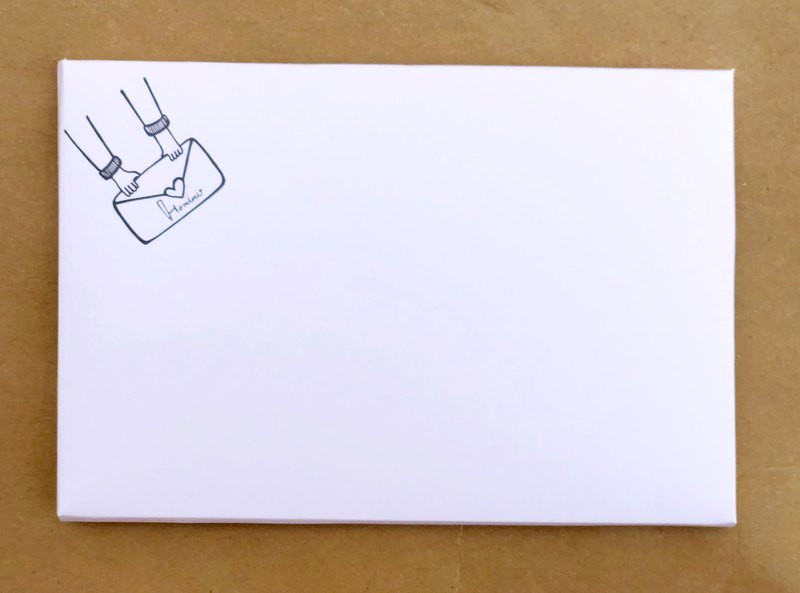 Illustration postcard card envelope