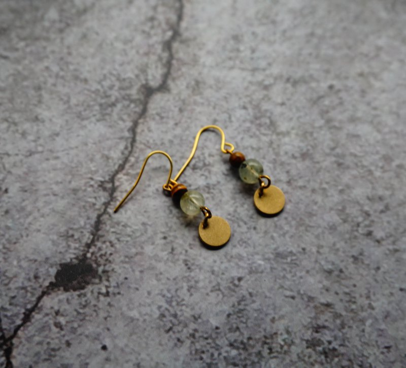 Handmade Morgan Stone Brass Earrings