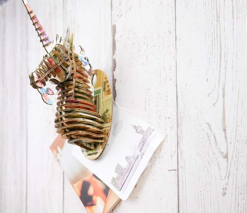 Unicorn Head /3D Craft Gift/Stamps style