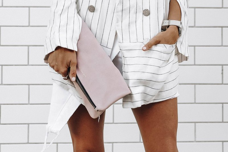 FEEL THE NIGHT Clutch _Dusty Pink / Light Pink