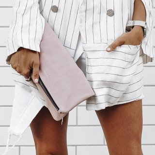 FEEL THE NIGHT Clutch_Dusty Pink / Light Pink