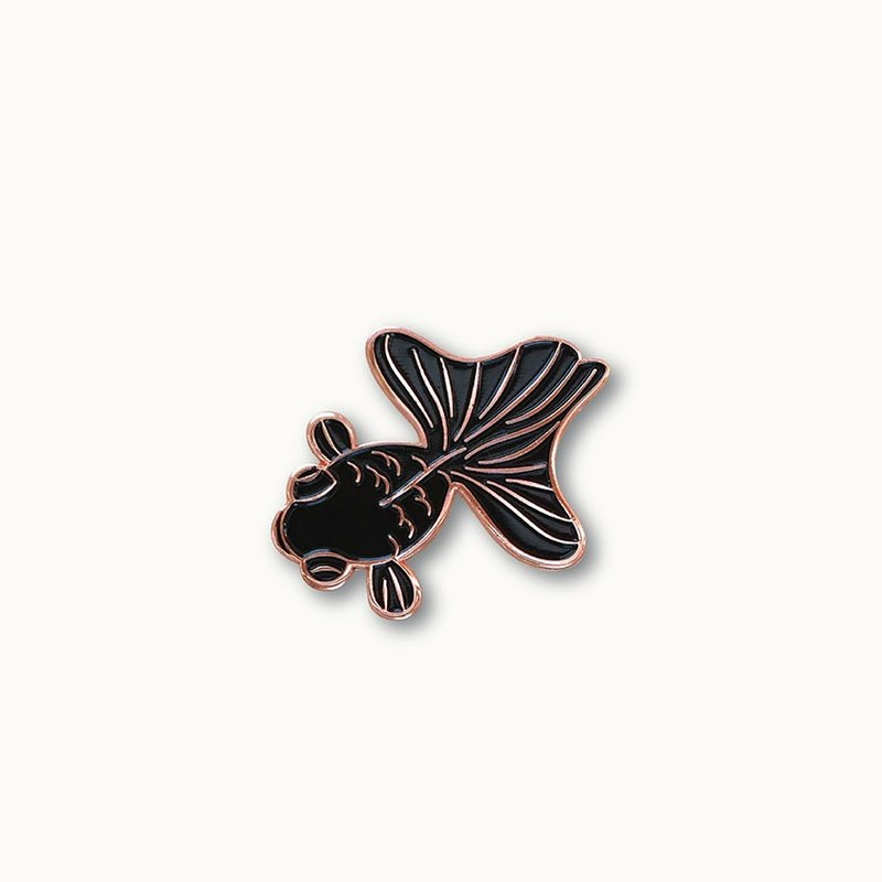 Black Goldfish Pin