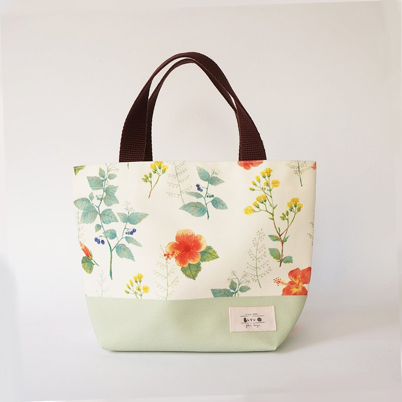 Life series –Tote bag -Plant collection(green)