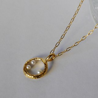 Bubble necklace (K18GP)