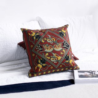 连理 棉棉 Modern and Minimalistic Vintage Nordic Persian Original Chinese Design Pillow Cushion Cushion Covered Christmas Gift / Exchange Gift