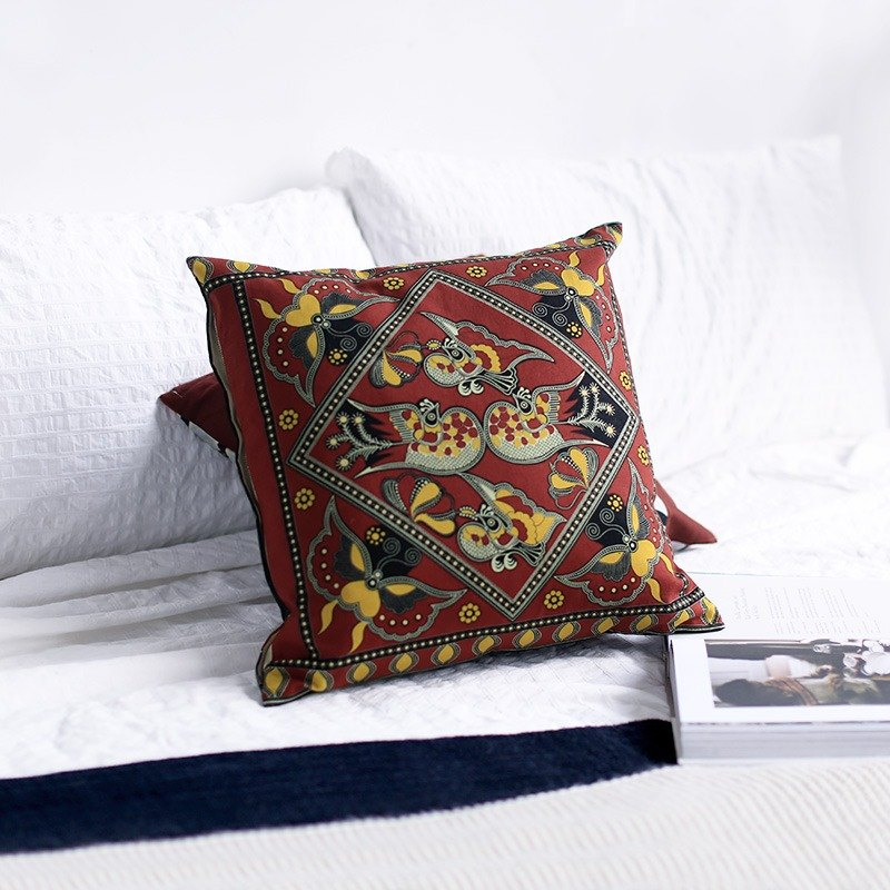 Lianli cotton and linen modern national retro simple Nordic Persian South Asian original Chinese design pillow pillow cushion