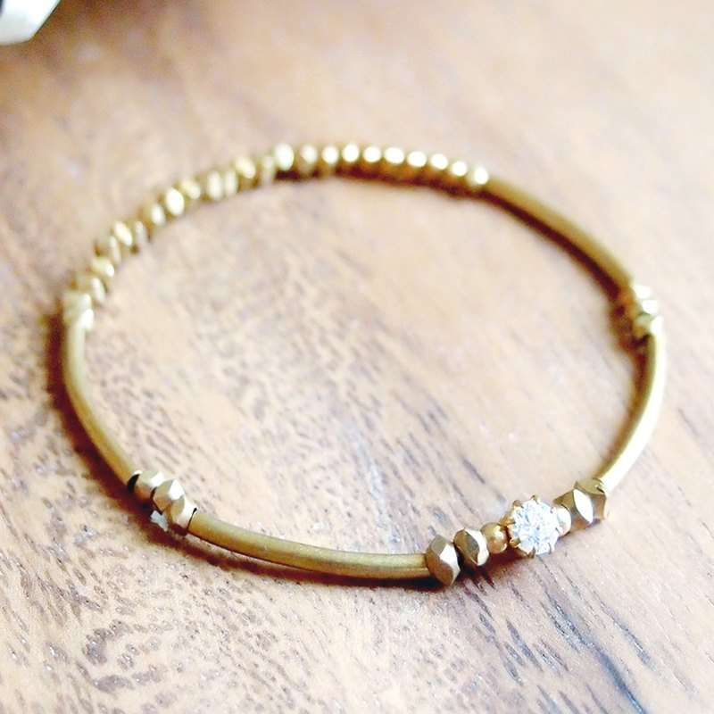 VIIART. Mini. Zircon Diamond Brass Bracelet