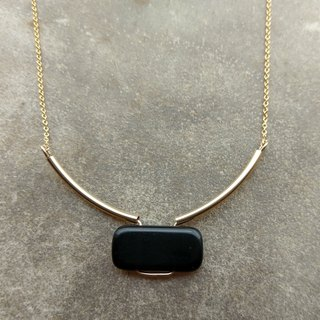 Minimalist African Onyx Necklace
