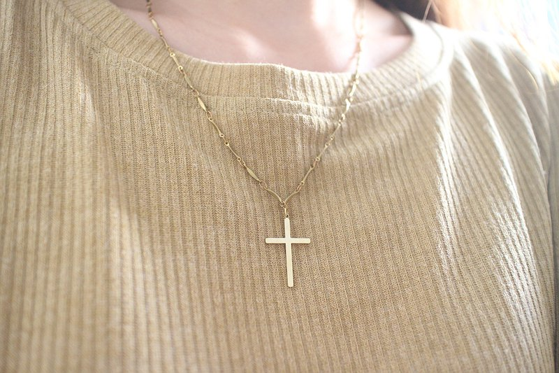 Belief - brass necklace