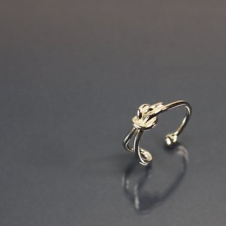 Tied knot 925 silver ring