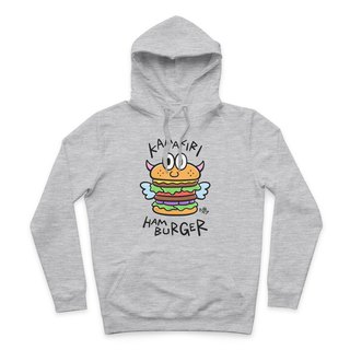 HAMBURGER- Deep ash - Hooded T-shirt