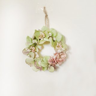 | Spring green hydrangea | Dry flowers. Mini wreath. Give yourself a small gift