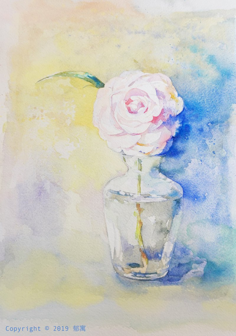 **YUYU ART** Watercolor painting **Camellia