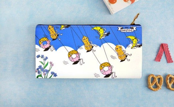 Bentoy x strange uncle - pencil box / cosmetic bag / Storage bag / cell phone bag (blue)