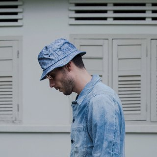 Copy Bucket Hat - Light Blue Splash