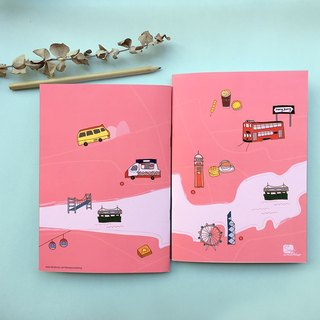 [Follow you] personal original hand-painted Hong Kong travel notebook inside blank