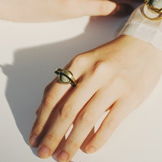 Brass Concrete Ring - A Trip to the Moon - C3CraftStudio x Agaric Garden
