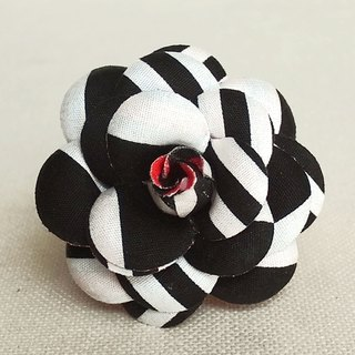 Brooch Black Borders Stripes Mini Heroine