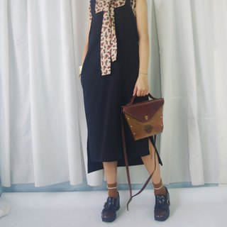 Design Handmade - Personality Black Large Ring Front Short Long Knit Skirt
