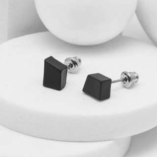 Recovery Trapezoid Earrings (Fog Black)