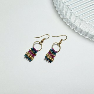 Clio - Brazilian wax woven brass earrings