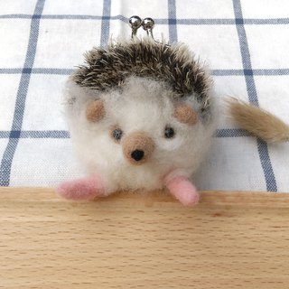 Needle Felt Hedgehog Coin Purse
