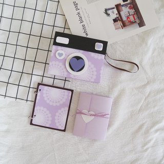 Camera Modeling Handbook x Lavender Forest - Handmade Cards / Valentine's Day Card / Handmade Book / Handmade Photo Album / Photo Album / Vintage Camera