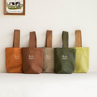 Insulated canvas beverage bag