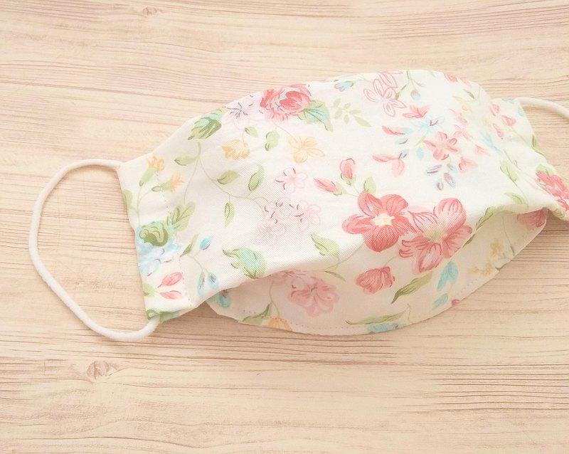 口罩,可重複使用,可水洗,100%棉,花朵印花,成人,兒童,2種尺寸