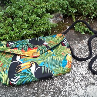 AMIN'S SHINY WORLD Handmade Summer Rainforest Birds Seagull Cover Bronze Shoulder Bag