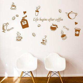 Smart Design Seamless wall stickers creative coffee ◆ Tea (8 colors)