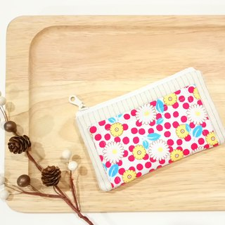 [FXS/ Four Degree Space Coin Purse] Small Daisy. Red x Yellow x Blue
