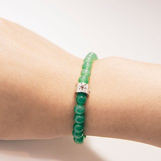Aventurine 6mm Beads Bracelet Precious Stones A-class Natural Silk