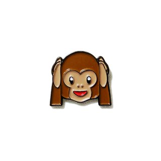 Hear No Evil Monkey Emoji Pin