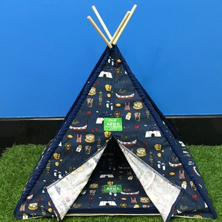[AFU] Indian camping tent with sleeping mat (dark blue Taiwan)