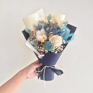 / Dry Flower / Contrast Blue Love Bouquet