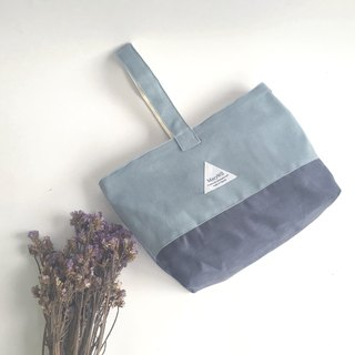 MaryWil Style Hand Bag - Gray Blue/Dark Blue