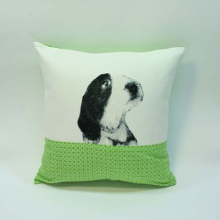 Embroidery small dog pillow 06-