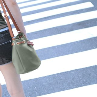 Promotion - CLM lightweight bucket bag _ brown green original price 1290 / special 990