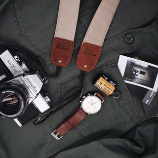 Beige Denim Camera Strap