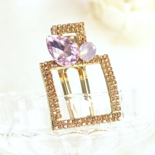 Glamorous Rhinestones Square Shaped Hair Clip