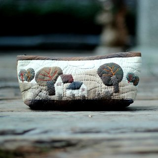 ❖ handmade material package - rural field Wind collage pencil box ❖