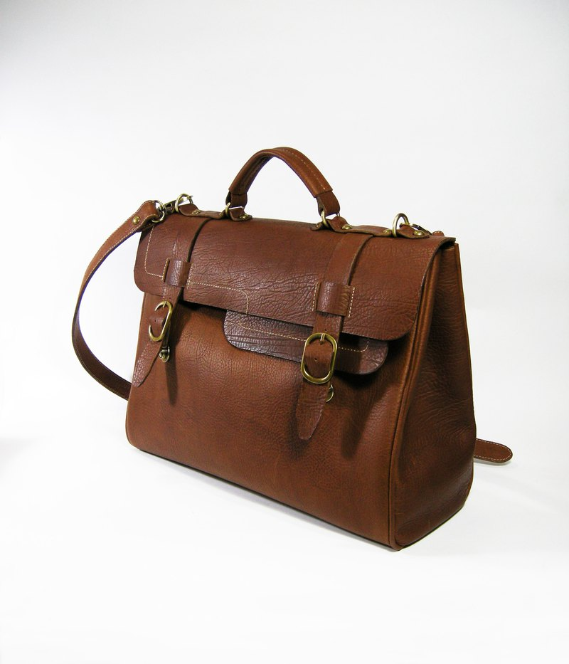 Leather travel briefcase male models _ as zuo zuo hand made leather bag